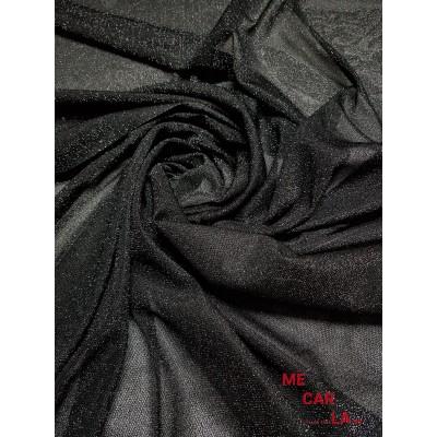 Tela de lamé 150 cm Negro