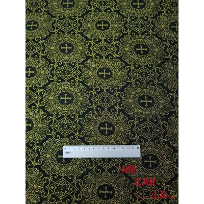 Tela de lamé estampado cruzadas 150 cm