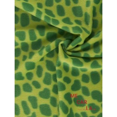 Tela de pelo corto peldi verde 155 cm