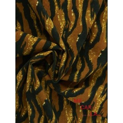 Tela de antelina estampado tigre 150 cm