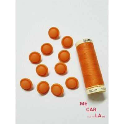 Botón fantasía media bola naranja mate