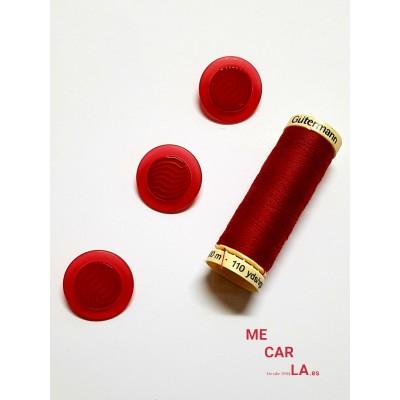 Botón rojo fantasía ondas