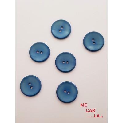 Botón clásico azul jeans dos agujeros