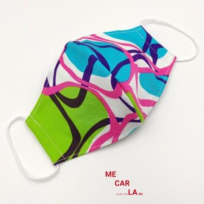 Mascarilla de tela reutilizable Estampado Multicolor