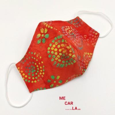 Mascarilla de tela reutilizable Estampado Círculos