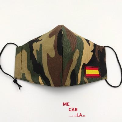 Mascarilla de tela reutilizable Camuflaje con Bandera