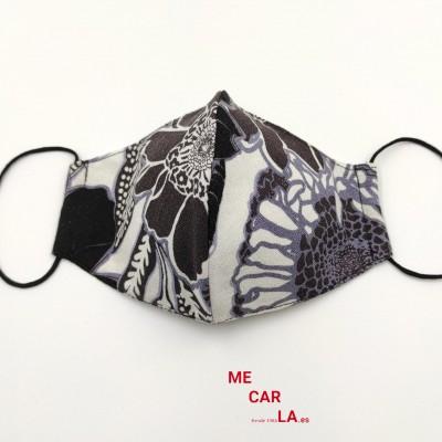 Mascarilla homologada de tela reutilizable Estampado Tricolor