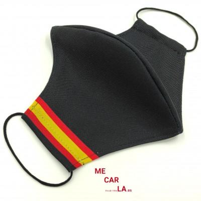 Mascarilla homologada de tela reutilizable con Filtro Tritex Bandera España
