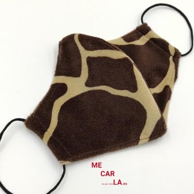 Mascarilla con Filtro Tritex Estampado Girafa