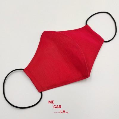 Mascarilla de tela reutilizable con Filtro Tritex Rojo Semimate