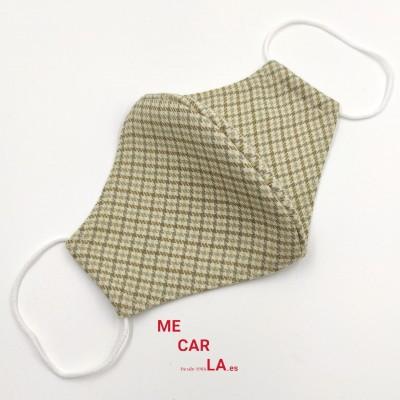 Mascarilla de tela reutilizable Pata de Gallo